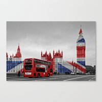 Red London Bus And Big B… Canvas Print