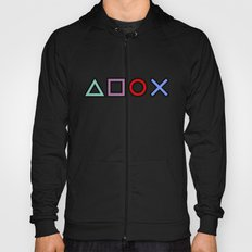 Gamer Pattern (color on black) Hoody