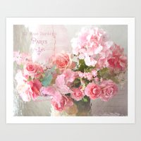 Paris Impressionistic Roses Art Print