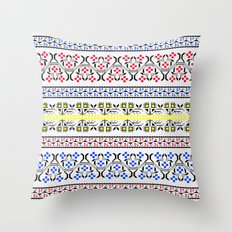 Folk Embroidery Throw Pillow