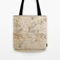 World Map 1844 Tote Bag