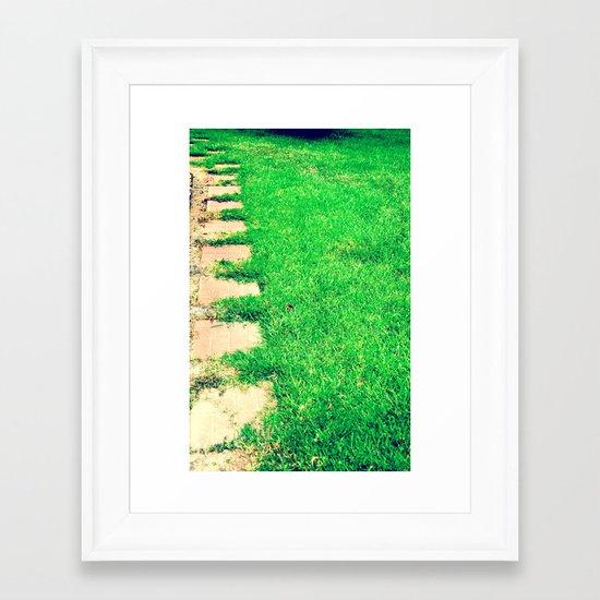 The Path Framed Art Print