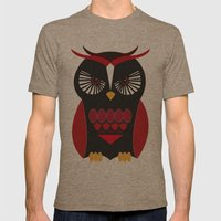 Evil Owl Mens Fitted Tee Tri-Coffee SMALL