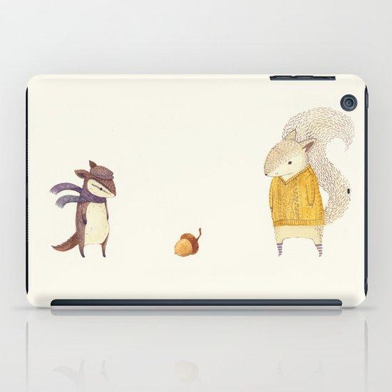 The Last Acorn of Autumn iPad Case