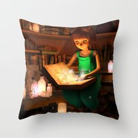 Lily's Magic Room Throw Pillow