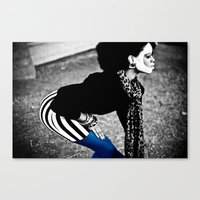 Blue Lean Canvas Print