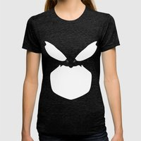 Killer Whale Womens Fitted Tee Tri-Black SMALL