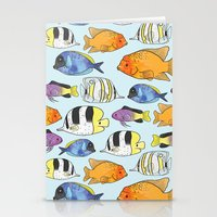 Fish Pattern Stationery Cards