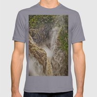 Beautiful waterfall in the rainforest Mens Fitted Tee Slate SMALL