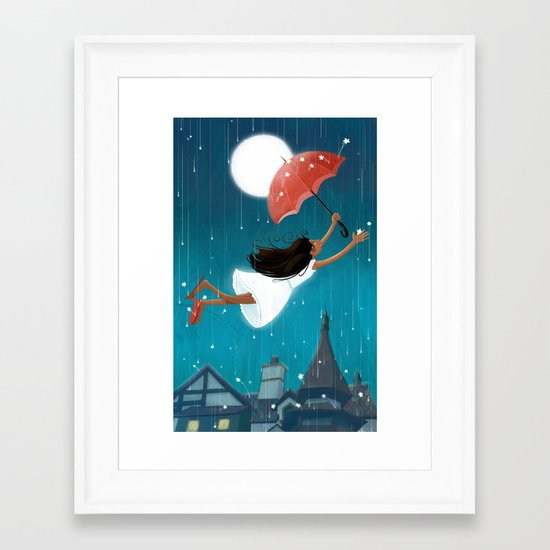The Red Umbrella Framed Art Print