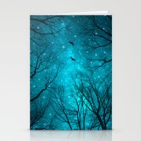 blue Stationery Cards featuring Stars Can't Shine Without Darkness  by soaring anchor designs