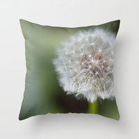 Dandelion Parachute Ball Throw Pillow