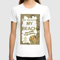 My Beach Womens Fitted Tee White SMALL