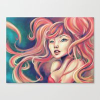 Technicolor Mermaid Canvas Print