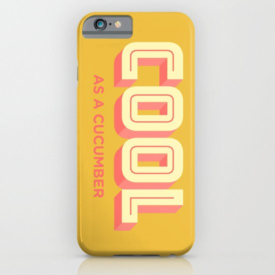 Cool As A Cucumber iPhone & iPod Case