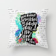 Mr.Darcy - I Love You Throw Pillow