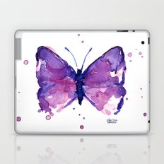Butterfly Purple Watercolor Laptop & iPad Skin