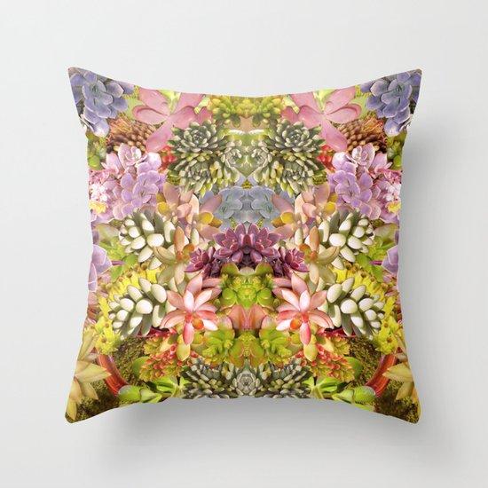 Succulent Garden Throw Pillow