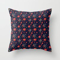 Sparrow Songs Throw Pillow