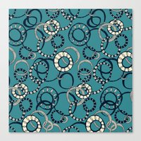 Honolulu hoopla blue Canvas Print