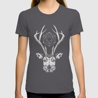 Stag Womens Fitted Tee Asphalt SMALL