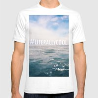 Lake Michigan Mens Fitted Tee White SMALL