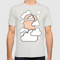 Cloud Control Mens Fitted Tee Silver SMALL