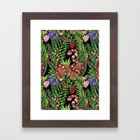 TIGER VS SNAKE Framed Art Print