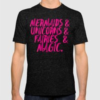 The Magical Creatures Mens Fitted Tee Tri-Black SMALL