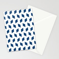 rhombus bomb in monaco blue Stationery Cards