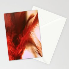 ruby feathers Stationery Cards