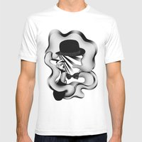 Gentle Smoke Mens Fitted Tee White SMALL