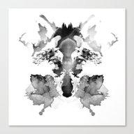 Canvas Print featuring Rorschach by Robert Farkas