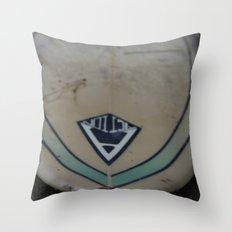 Surf Board Throw Pillow