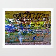 Bridge Graffiti  Art Print