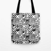 Black And White Abstract… Tote Bag