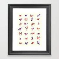 Creatures Framed Art Print