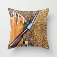 Winchester Rifle Throw Pillow