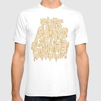 Pure Applesauce!  Mens Fitted Tee White SMALL