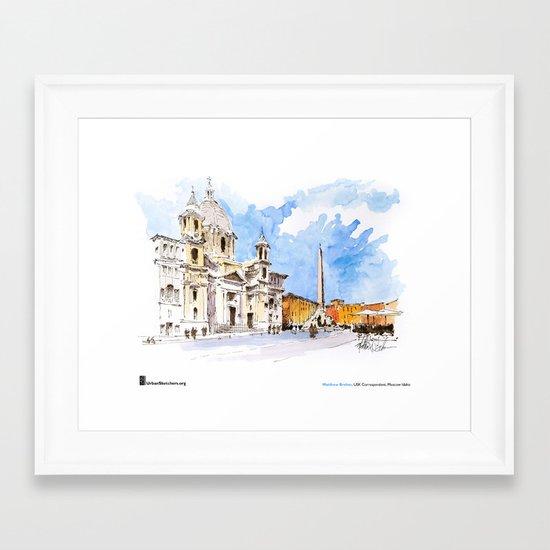 "Matthew Brehm, ""Roma, Piazza Navona"" Framed Art Print"