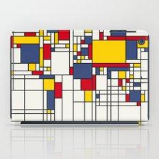World Map Abstract Mondrian Style iPad Case