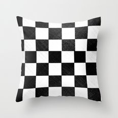 Dirty checkers Throw Pillow