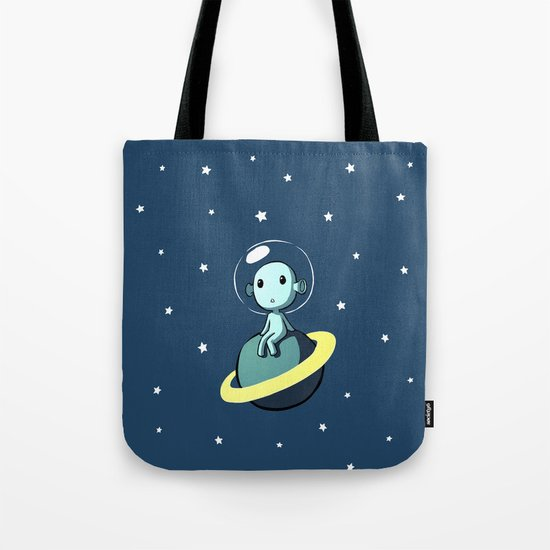 Space Alien Tote Bag