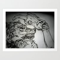 Pullin The Wolf Over My … Art Print
