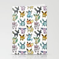Eeeveelution Doodle Stationery Cards