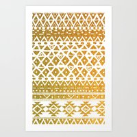 GOLDEN TRIBAL Art Print