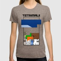 Tetrimals Womens Fitted Tee Tri-Coffee SMALL