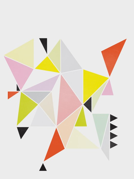 Multicolor Geometric Art Print