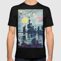 Magical City Evening Mens Fitted Tee Tri-Black SMALL