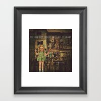 My responce to Happiness is a Choice Framed Art Print